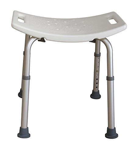 (Essential Medical Supply Adjustable Tool Free Blow Molded Shower Bench)