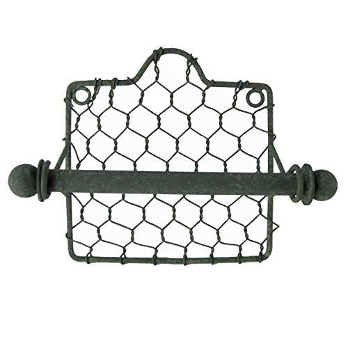 (Primitive Country Style Chicken Wire Toilet Paper TP Holder Farmhouse Bath Decor)