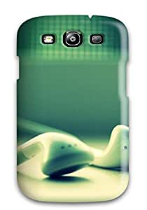 New Style Tpu S3 Protective Case Cover/ Galaxy Case - Ipod Headphones Closeup Iphone 5