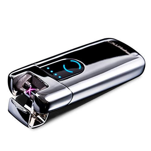 Primo Dual Arc USB Lighter Rechargeable Electronic Windproof Lighter LED Screen Plasma Lighter -