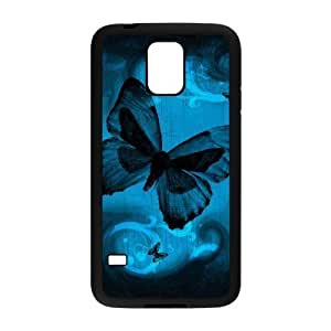 Diy Beautiful Colorful Butterfly Custom Cover Phone Case for samsung galaxy s5 Black Shell Phone [Pattern-5]