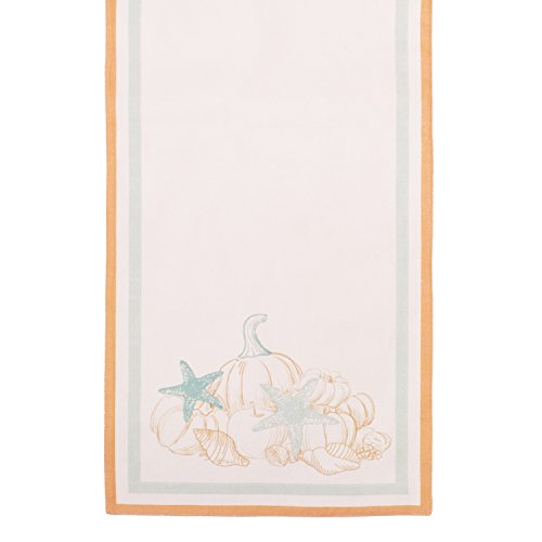 Beachcomber Linen - Beachcombers Give Thanks Table Runner Cotton Duck Kitchen Linen