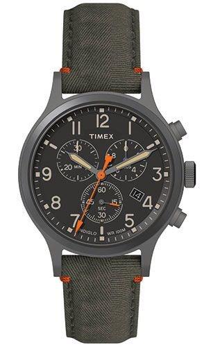 Timex Allied Green Dial Canvas Strap Men's Watch TW2R60200
