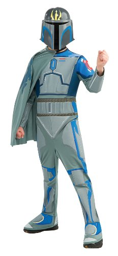 Theatrical Star Wars Costumes (Star Wars The Clone Wars, Child's Costume And Mask, Pre Vizsla Costume, Large)
