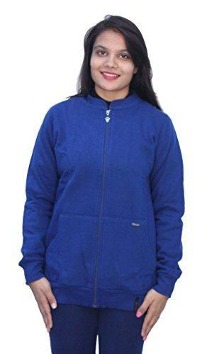 Romano - Sweat-shirt - Uni - Manches Longues - Femme Bleu Bleu