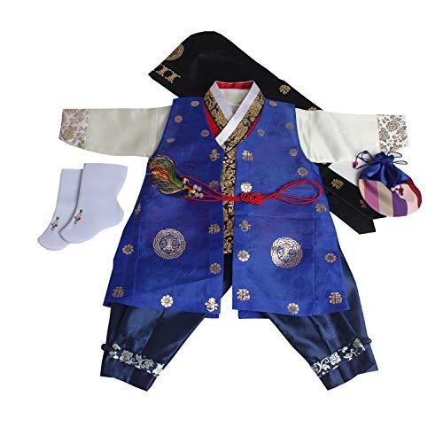 Korean Hanbok Babys Boys Original DOLBOK 1st Birthday Traditional Costumes 004]()