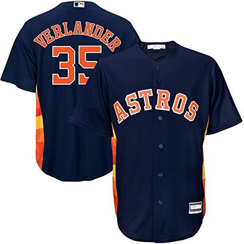 VF LSG #35 Justin Verlander Houston Astros Cool Base Player Jersey - Navy XXL