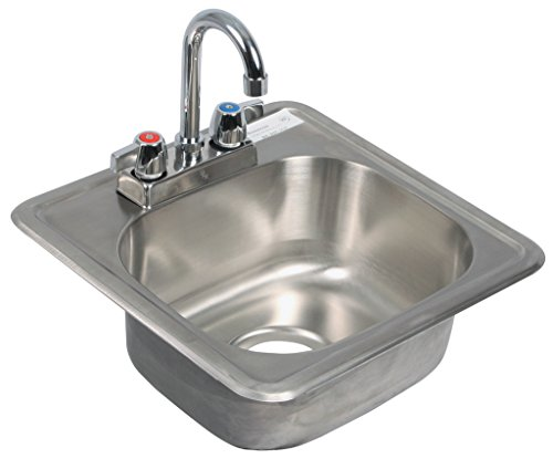 """BK Resources Drop-in Sink, One Compartment, 12"""" Wide X 10..."""