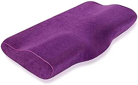 Almohada para Cuello ortopédico Cervical Almohada de Espuma de Memoria de una Pieza de Mariposa Rebote Lento Almohadas de Descanso para la Salud de Adultos Almohada para Cuello 30 * 50 cm
