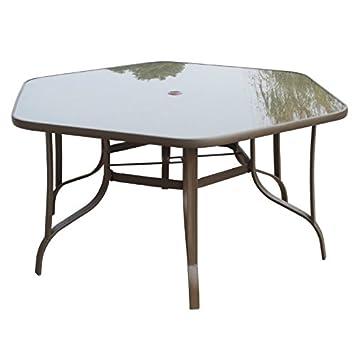 Moderne hexagonal Garden Table de salle à manger - avec trou ...