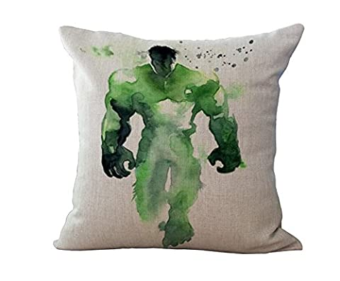 Super Heroes X Men Thicker Cotton & Linen Pillowcase Decorative Throw Pillow Cover (hulk) (Xmen Bed Cover)