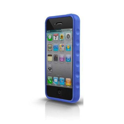 Marware Iphone Grip Sport For (Marware Sport Grip Case for iPhone 4 - Blue - Fits AT&T iPhone)