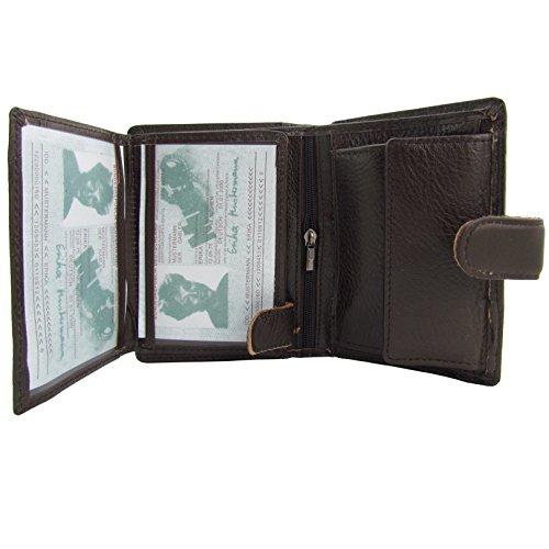 Wild Things Original Rind Leder Geldbörse Hochformat mit Riegelverschluss