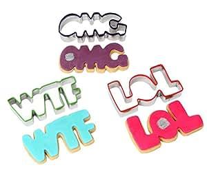 Text Talk Cookie Cutter Set - 3 Piece Set