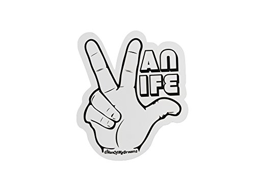 Vw Camper Vanagon - VanOfMyDreams Van Life Hand - Sticker/Decal