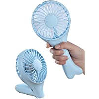 Mini Handheld Fish Fan Foldable Adjustable Speeds Table Cooling Fan with USB Rechargeable Design for Home and Travel, Blue