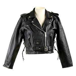 Amazon.com: Biker Jackets - Women's Short Leather Biker