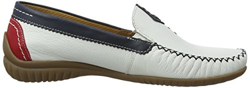 Gabor Shoes Comfort, Mocasines para Mujer Blanco (weiss/multic. 69)