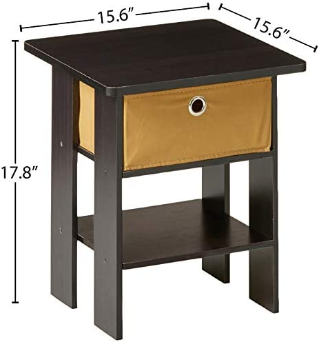 home, kitchen, furniture, living room furniture, tables,  end tables 10 image Furinno End Table Bedroom Night Stand, Petite, Espresso deals