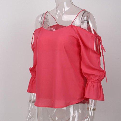 Multicolore SANFASHION SANFASHION Donna Pink Ballerine Damen Multicolore Shirt145 Bekleidung wZ6xYZzf