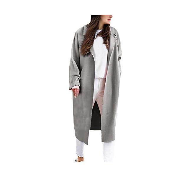 New Women/'s Lapel Long Jumper Loose Cardigan Waterfall Duster Trench Coat Jacket