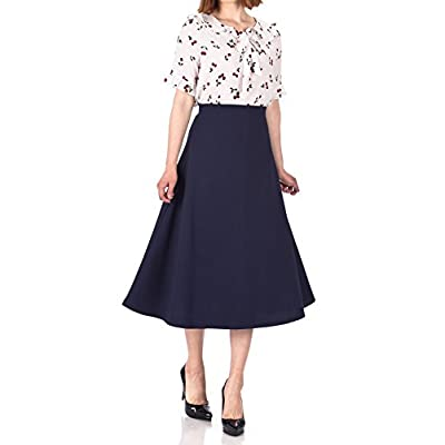 Dani's Choice Elastic Waist A-line Flared Long Skirt at Women's Clothing store