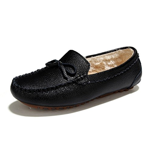 Driving TIOSEBON Softsole A Shoes Black Moccasin Toe Round ONS 5710 Flats Slip Women's Leather Comfortable Loafers WqwwTFYp
