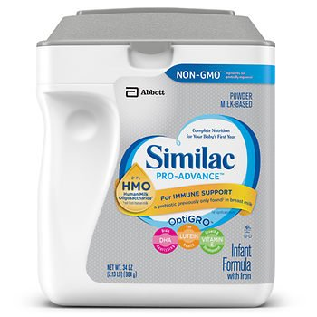 Similac Non-GMO Pro-Advance Infant Formula Powder, 34 oz. AS -  American Standart