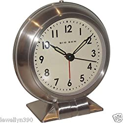 NEW Westclox Big Ben Classic Alarm Clock Quartz Movement Metal Bezel 90010A