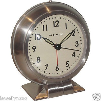 NEW Westclox Big Ben Classic Alarm Clock Quartz Movement Metal Bezel 90010A Bezel Alarm