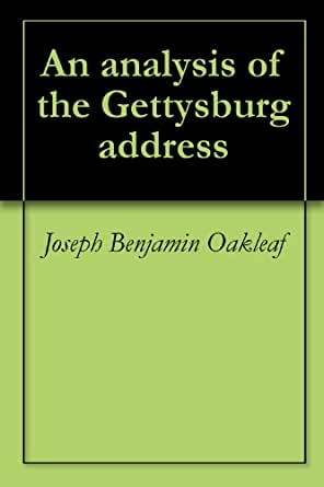 analysis with the particular gettysburg address