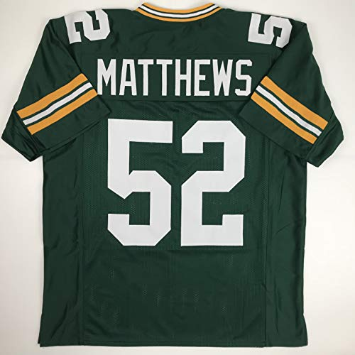 Unsigned Clay Matthews Green Bay Green Custom Stitched Football Jersey Size Men's XL New No Brands/Logos