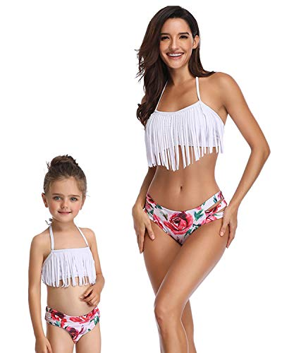 Dependable 2019 Brand New Mother And Daughter Matched Leaves Print Boho Bikini Sets Flowers Belt Swimwear Women Girls Beach Swimsuit Tops & Tees Led Grow Lights