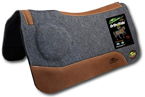 "Southwestern Equine OrthoRide Correction Saddle Pad 1"" Made in USA (31 x 32, Natural Leathers)"