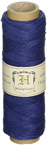 Hemptique 5070818 Hemp Cord Spool, 10 lb, Navy Blue