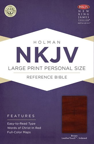 NKJV Large Print Personal Size Reference Bible, Brown LeatherTouch - Stores Mall Reno