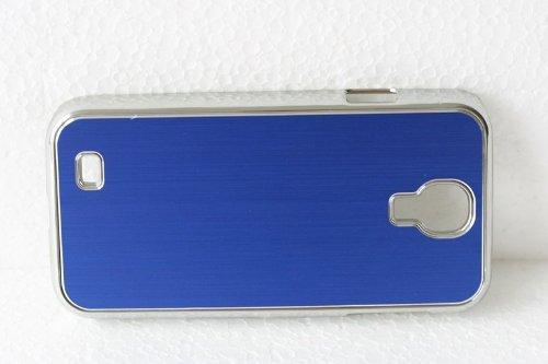 Cubierta de la caja de lujo Terminal cubierta protectora para Samsung Galaxy S4 i9500 caja del del teléfono celular de la caja del metal del cromo de aluminio cepillada azul caso duro de lujo