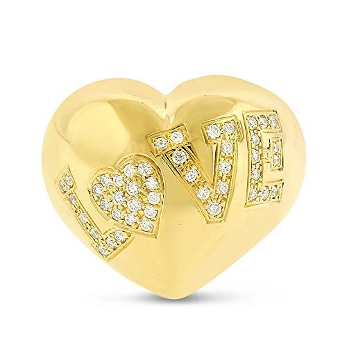 Original Chopard 18k Yellow Gold Round Brilliant Diamond Pave Love Ring