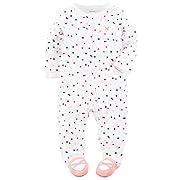 Carter's Baby Girls' Cotton Sleep & Play (9 Months, Dots)