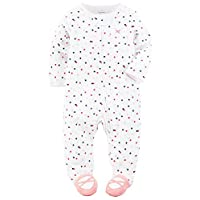 Carter's Baby Girls' Cotton Sleep & Play (9 Months, Dots)