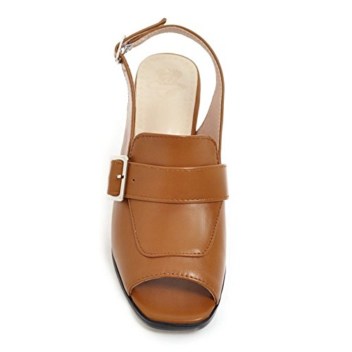 Mujer Zapatos Light Slingback Moda Sandalias Brown Coolcept fqdRZwZ