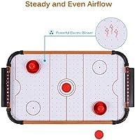 SHMZQ Mini Juego de Mesa Air Hockey, Juego de Mesa para Interior y Exterior para niños, Adolescentes y Adultos Soplador con batería Regalos para Adultos: Amazon.es: Deportes y aire libre
