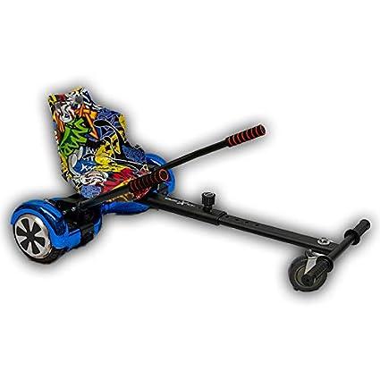 Gift Gadgets Graffiti Hip Hop Yellow Seat With BlackHoverkart Hover Kart Go  Kart Racer GoKart