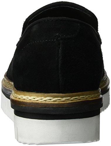 Mocassino Casual Bianco Donna 25-49103 Pantofola Nero (nero)