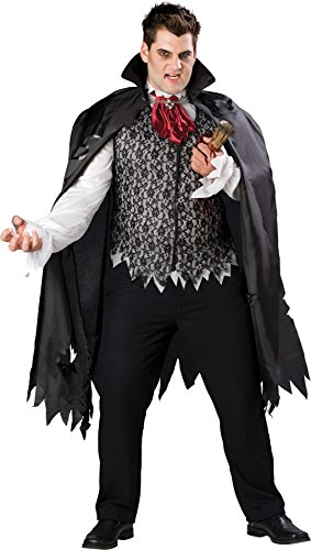GTH Men's Horror Fancy Vampire B Slayed Dracula Theme Party Costume, XX-Large (50-52)