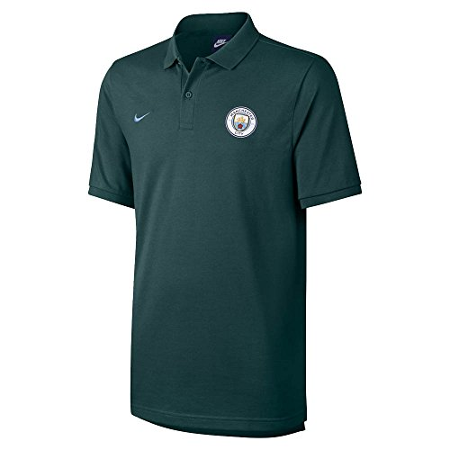Grand Slam Jacket - 2017-2018 Man City Nike Authentic Grand Slam Polo Shirt (Outdoor Green)