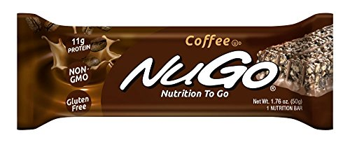 NuGo Protein Bar, Coffee, 1.76-Ounce Bars (Pack of 15)