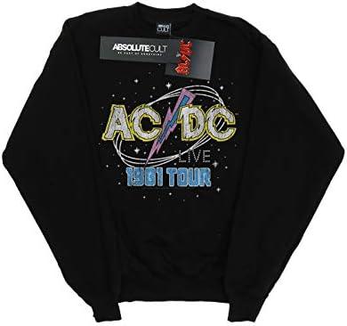 AC/DC Herren 1981 Live Tour Sweatshirt Schwarz Large