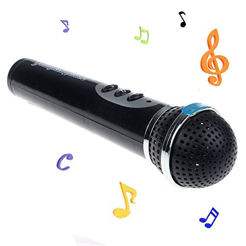 - Microphone Music Toy, Microphone Mic Karaoke Singing Machine Party Favor Toy Great Birthday Holiday Gift for Girls, Boys,Toddler Who Love Singing (Black)