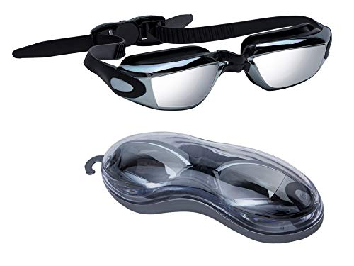 Noveltyz Nearsighted Optical Swim Goggles, Leakproof Anti Fog Shortsighted Swimming Goggles with UV Protection for Women and Men